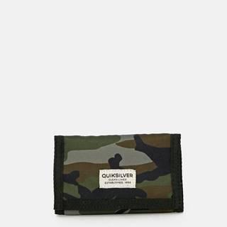 Kaki maskáčová peňaženka Quiksilver