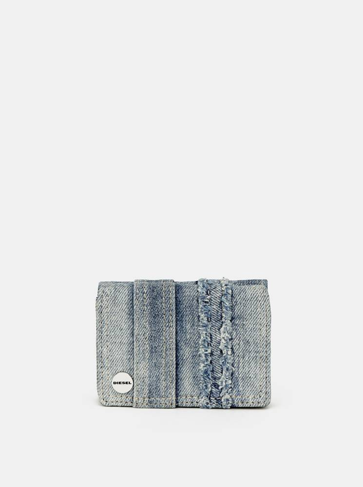Diesel Modrá dámska rifľová peňaženka Diesel