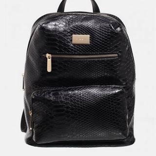 Čierny batoh s krokodýlím vzorom Bessie London