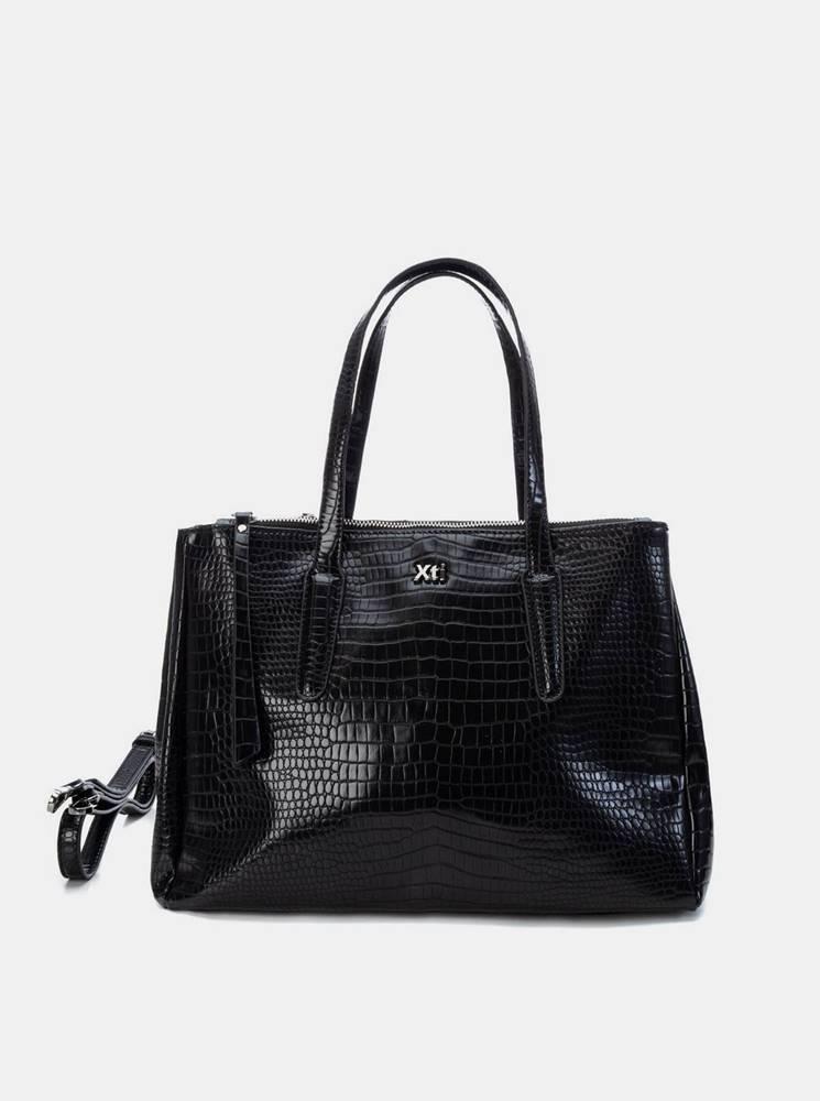 Xti Čierna kabelka s krokodýlím vzorom Xti