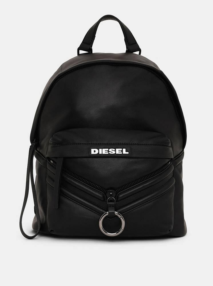 Diesel Čierny kožený batoh Diesel
