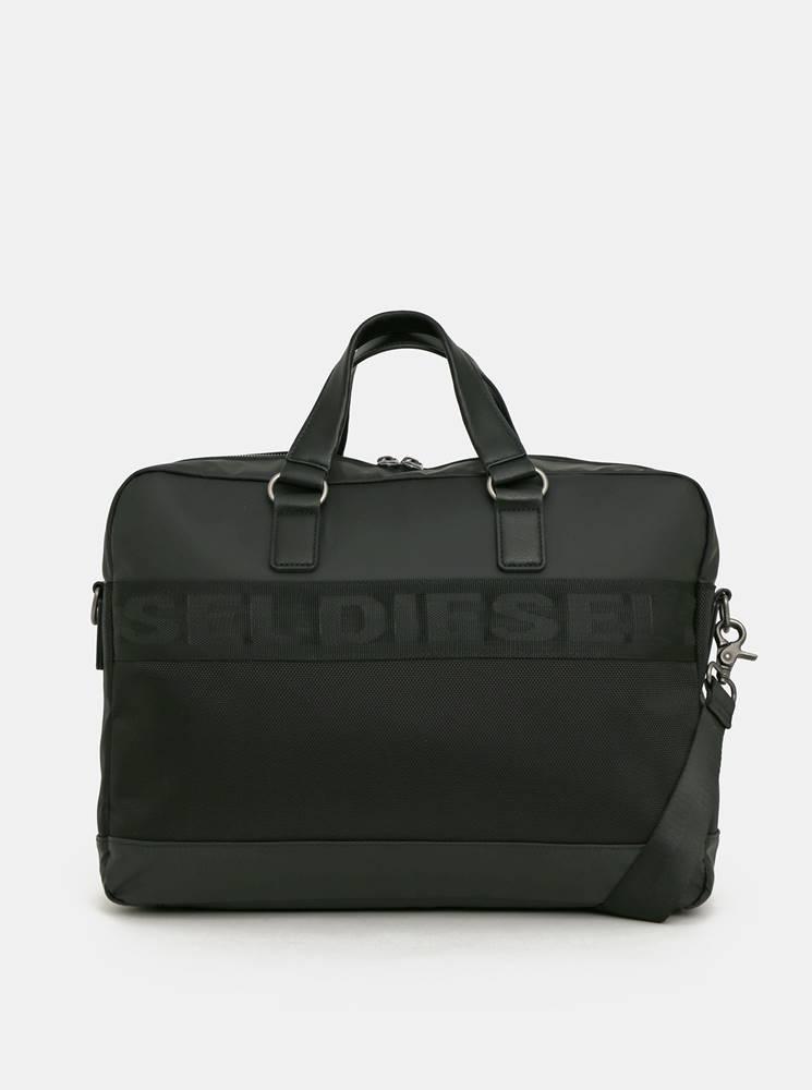 Diesel Čierna pánska taška na notebook Diesel
