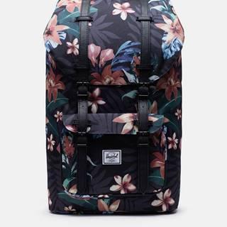 Čierny kvetovaný batoh Herschel Supply Little America 25 l