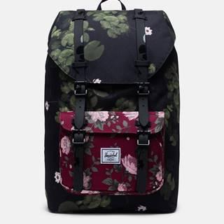 Čierny kvetovaný batoh Herschel Supply