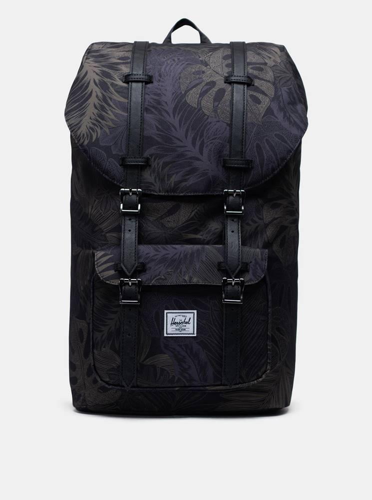 Herschel Supply Čierny vzorovaný batoh Herschel Supply