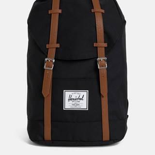 Čierny batoh s hnedými popruhmi Herchel Supply Retreat 19,5 l