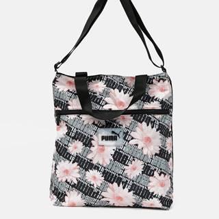 Šedo-čierna dámska kvetovaná taška Puma