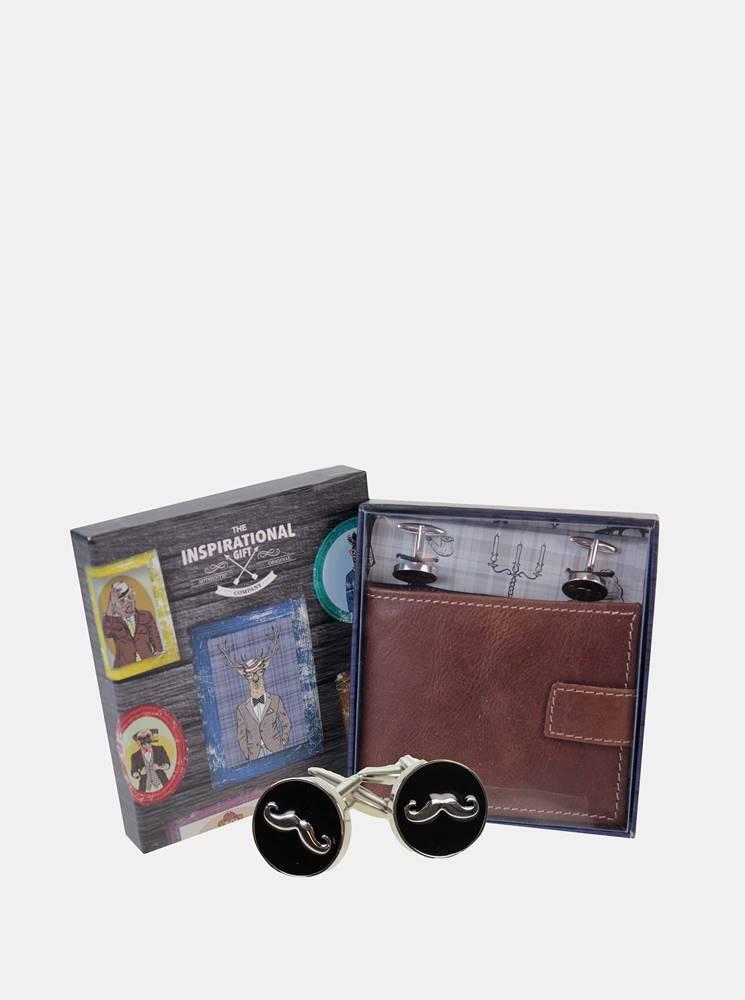 something special Hnedá pánska kožená peňaženka Something Special