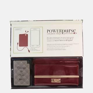 Vínová dámska peňaženka s powerbankou Something Special