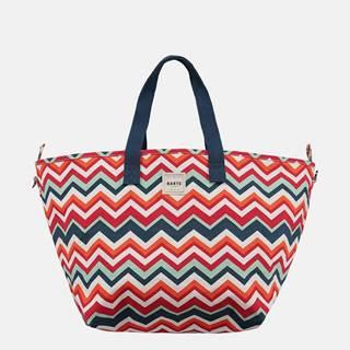 Modro-červená dámska vzorovaná plážová taška BARTS