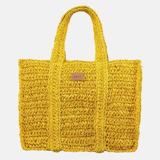 Žltá dámska plážová slamená taška BARTS