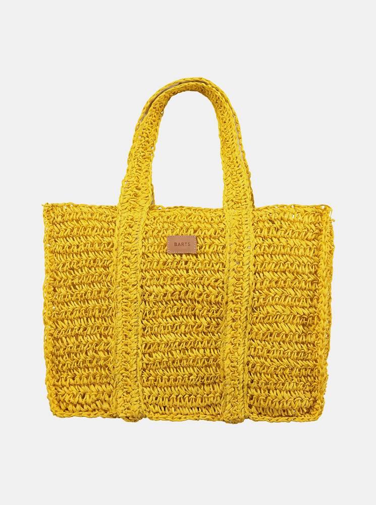 barts Žltá dámska plážová slamená taška BARTS