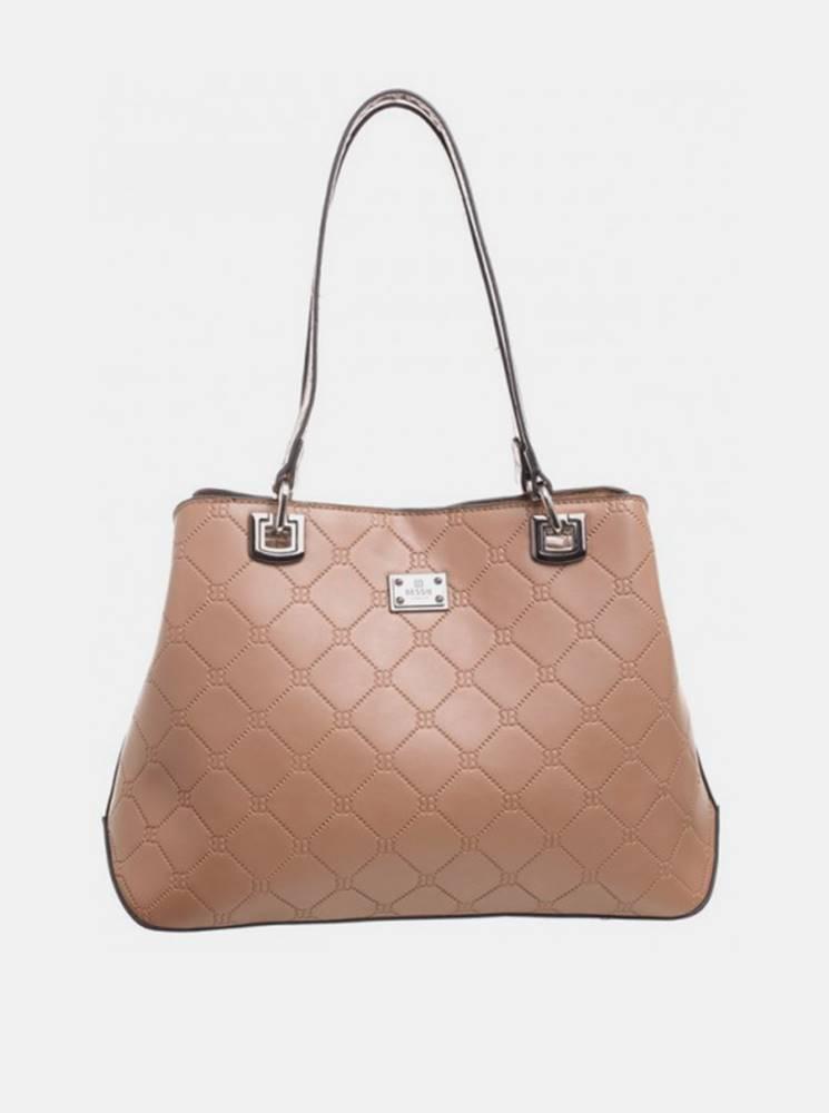 Béžová vzorovaná kabelka Be...