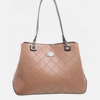 Béžová vzorovaná kabelka Bessie London