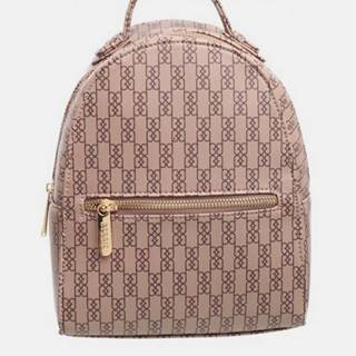 Tmavohnedý vzorovaný batoh Bessie London