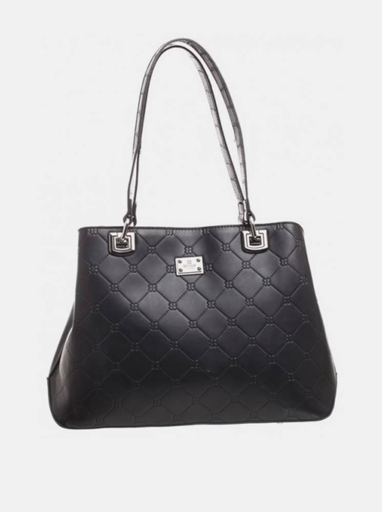 Čierna vzorovaná kabelka Be...