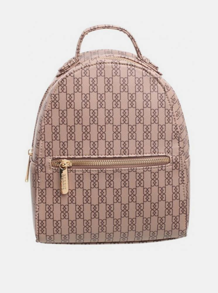 Béžový vzorovaný batoh Bess...