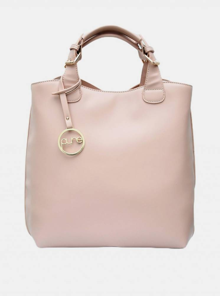 Svetloružová kabelka Pure L...