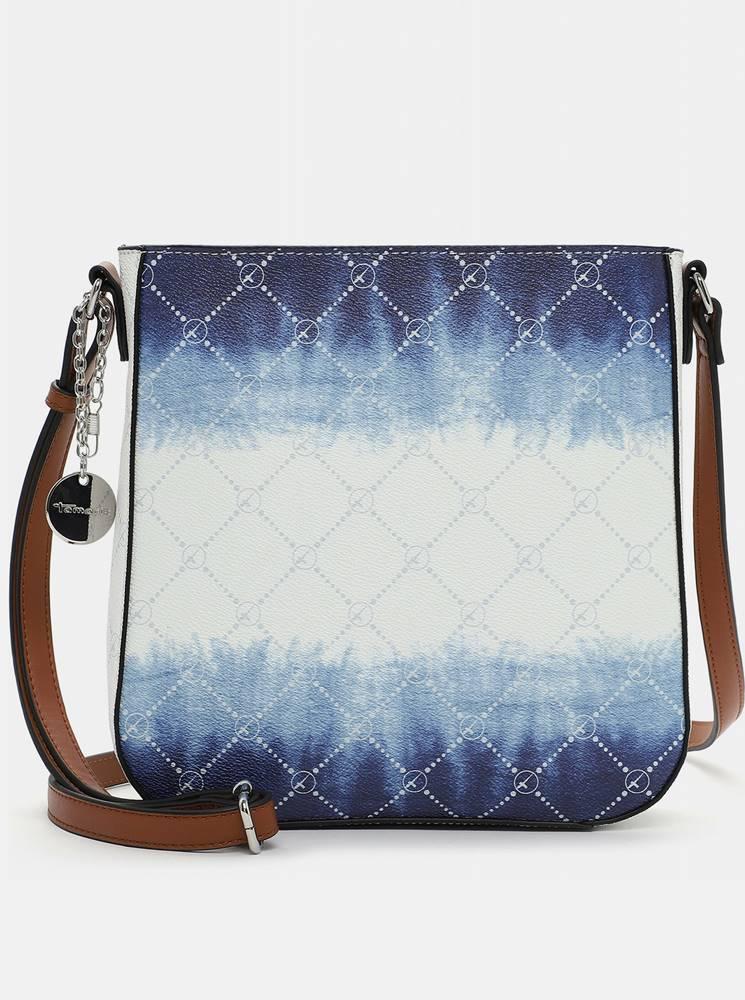 Tamaris Modro-biela vzorovaná crossbody kabelka Tamaris