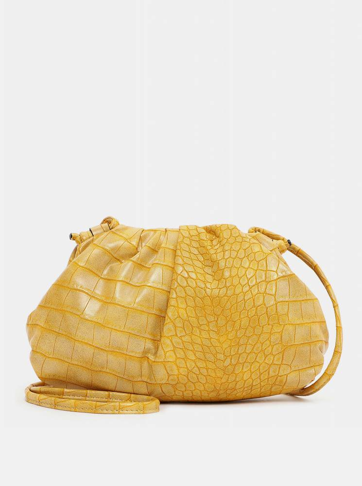 Tamaris Žltá vzorovaná malá crossbody kabelka Tamaris