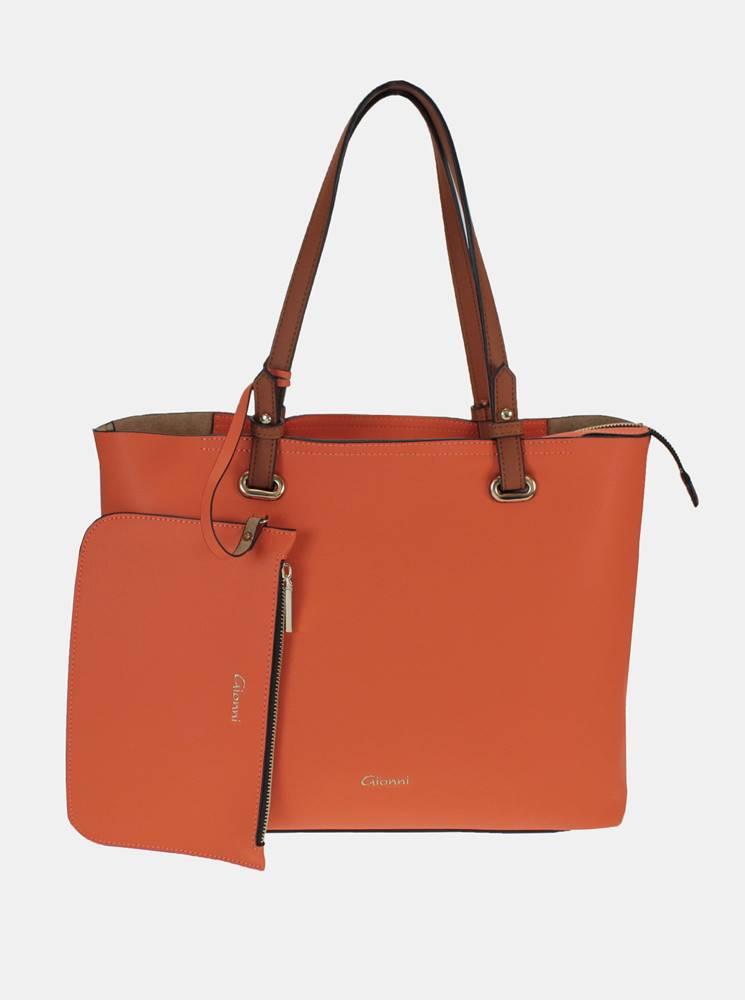 Gionni Oranžový shopper s malým púzdrom Gionni