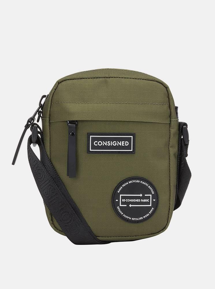 Consigned Zelená crossbody taška Consigned