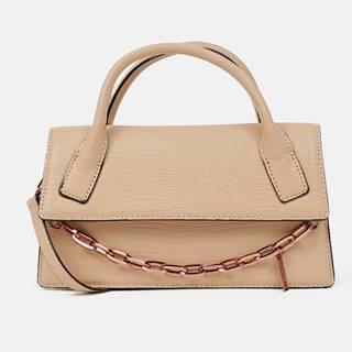 Béžová kabelka s ozdobnou retiazkou ALDO Buria