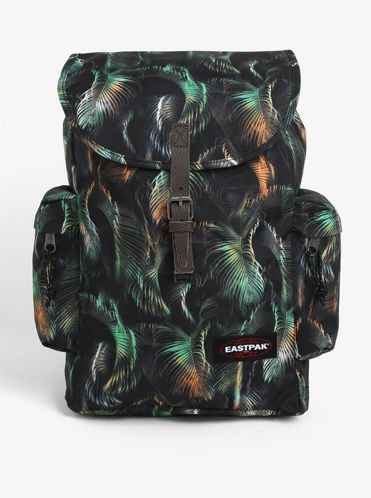 Eastpak Zeleno-čierny vzorovaný batoh s chlopňou Eastpak Austin 18 l