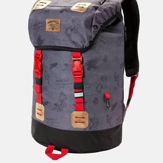 Tmavosivý batoh s pláštenkou Meatfly 26 l
