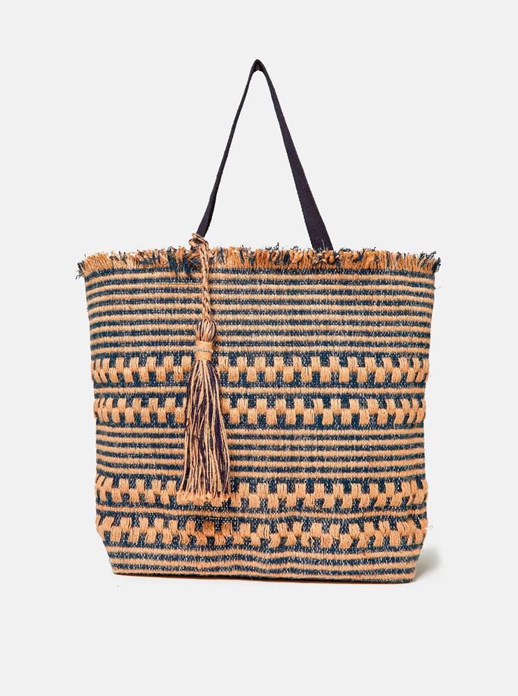 Dorothy Perkins Béžovo-modrá plážová jutová taška Dorothy Perkins