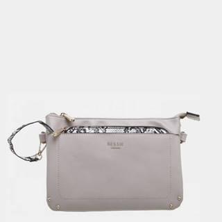 Šedá listová kabelka Bessie London