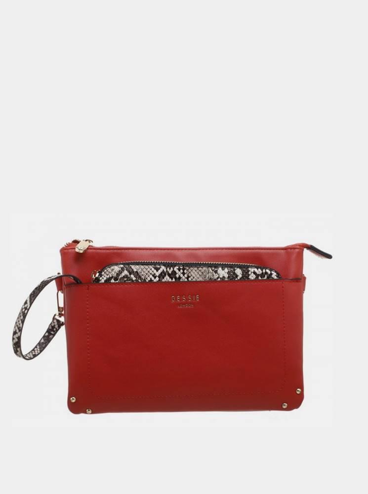 Bessie London Červená listová kabelka Bessie London
