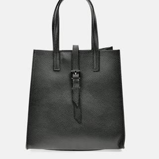 Čierna kožená kabelka Anna Luchini