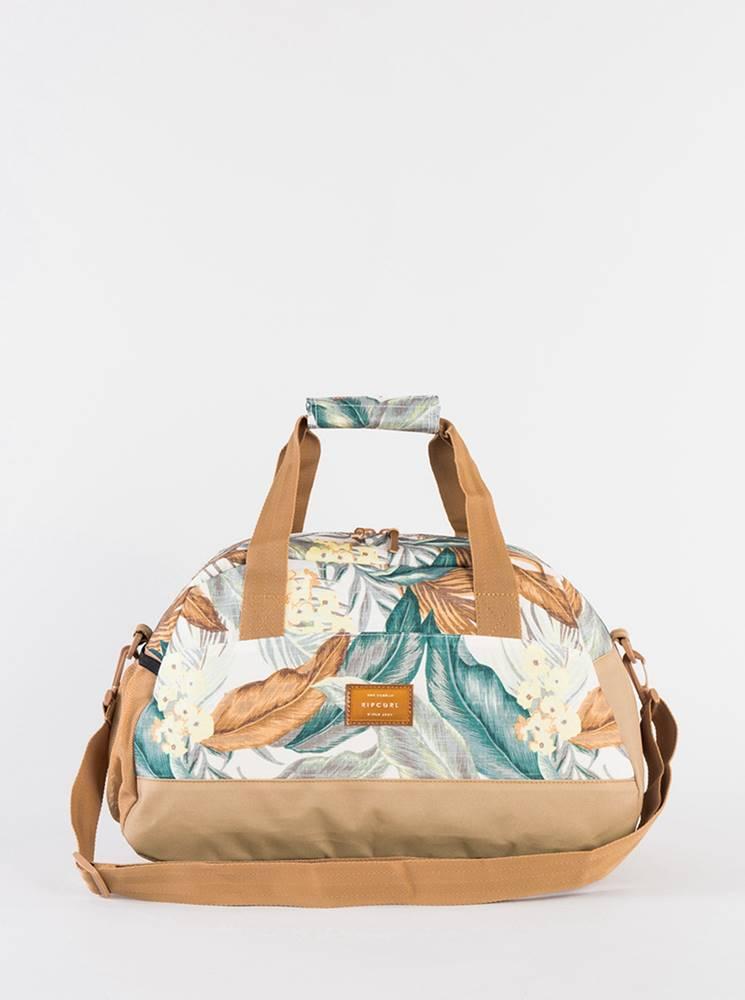 Rip Curl Krémovo-béžová vzorovaná cestovná taška Rip Curl