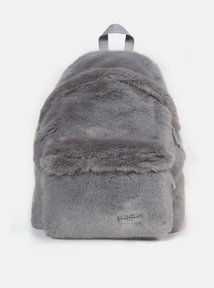 Eastpak Šedý batoh z umelého kožúšku Eastpak 24 l