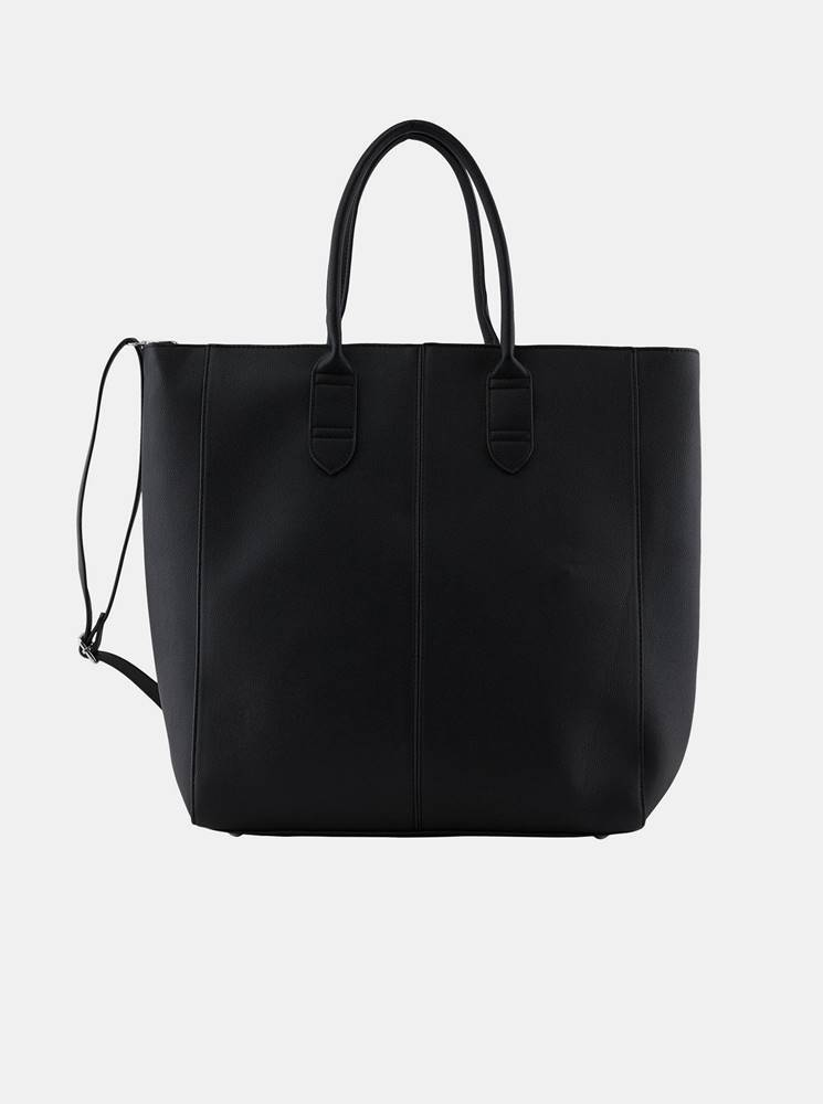 Pieces Čierny shopper  Tilo