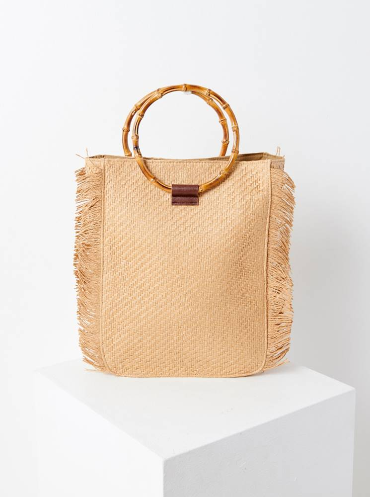 CAMAIEU Béžová slamená kabelka CAMAIEU