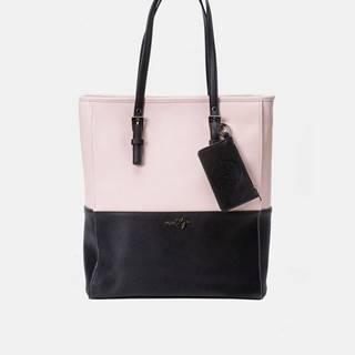 Čierno-ružová veľká kabelka Meatfly