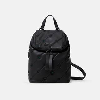 Čierny dámsky vzorovaný batoh  Ojo de Tigre Nerano Loen Mini