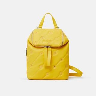 Žltý dámsky vzorovaný batoh Desigual Ojo de Tigre Nerano Loen Mini
