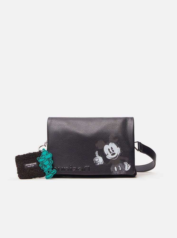 Desigual Čierna dámska crossbody kabelka s motívom Desigual Mickey Dortmund Flap