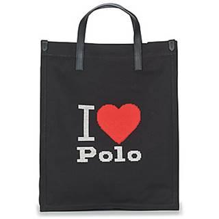 Veľká nákupná taška/Nákupná taška Polo Ralph Lauren  I HRT POLO CVS/LTHR