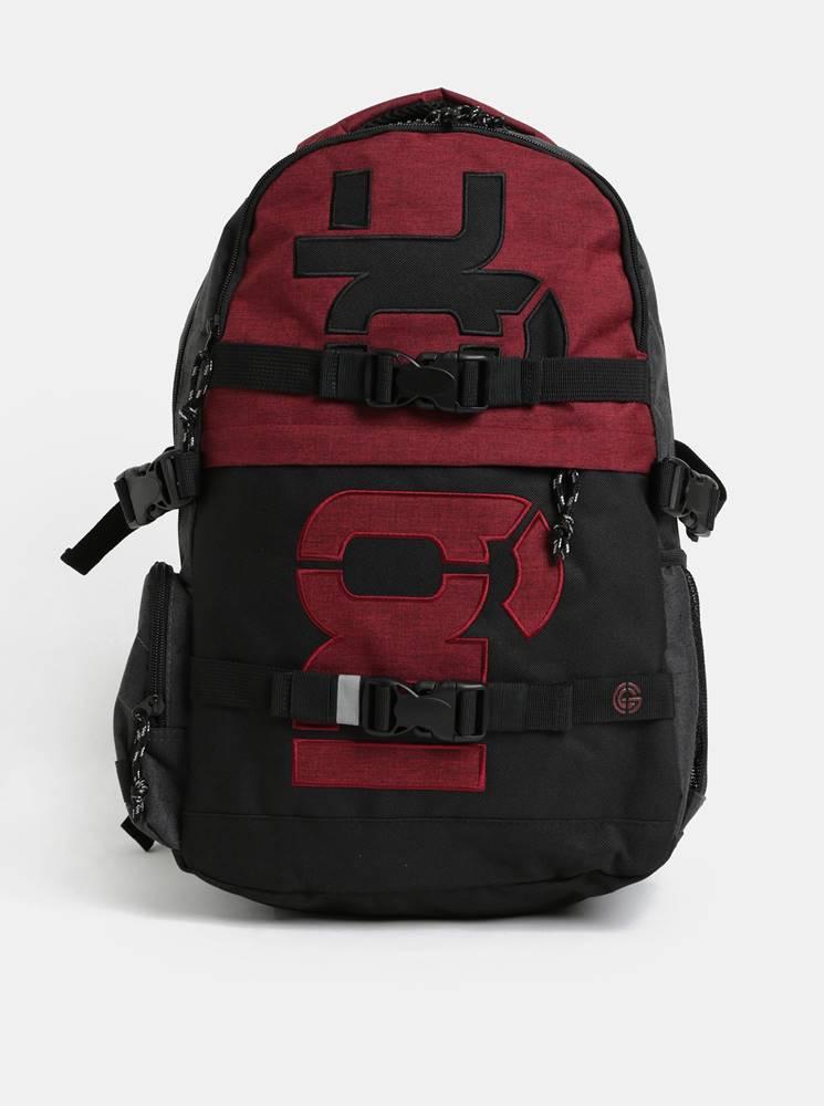 NUGGET Červeno-sivý batoh s odnímateľným bedrovým popruhom a pršiplášťom NUGGET 30 l