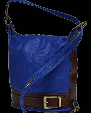kožená kabelka cez rameno Adele Blu Marina