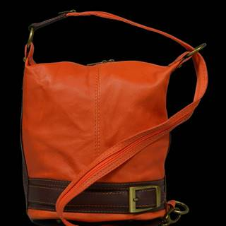 kožená kabelka cez rameno Adele Arancione