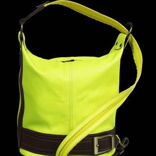 NovaKabelka.sk kožená kabelka cez rameno dámska Adele Gialla Fluorescenza