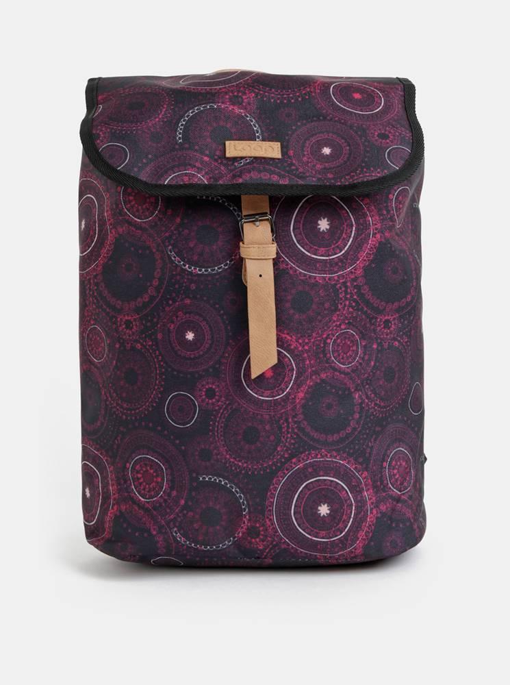 LOAP Fialový dámsky vzorovaný batoh LOAP Evena 13 l