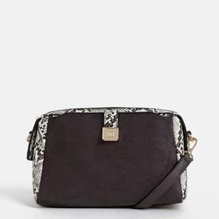 Šedá kabelka v semišovej úprave Bessie London