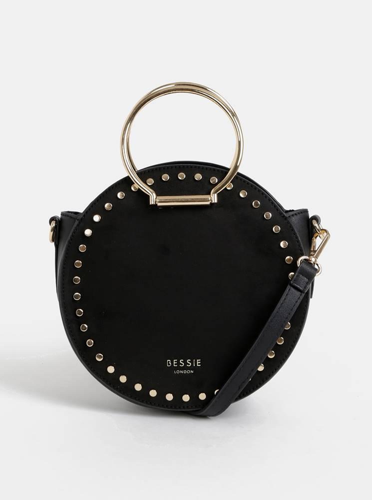 Bessie London Čierna kabelka v semišovej úprave Bessie London