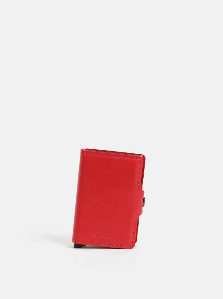 Secrid Červená kožená peňaženka s hliníkovými púzdrami Secrid Twinwallet
